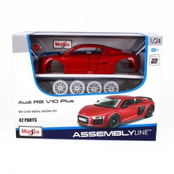 MAISTO_ AUDI R8 V10 PLUS. DIE CAST ASSEMBLY LINE_ 1/24