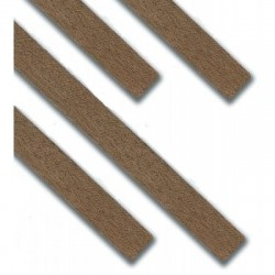 Amati_ Listón madera de Nogal 0,5 x 2 x 1000 mm. (25uds.)