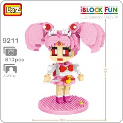 Loz Iblock fun_ Sailor Moon Chibiusa (610 piezas)