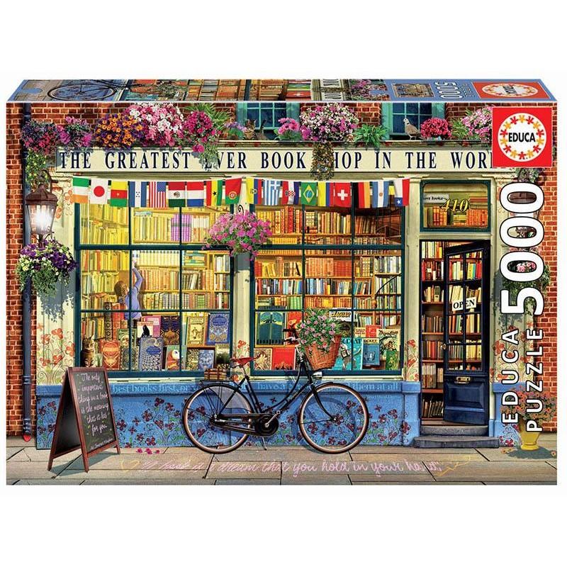 Educa Puzzle_ La mejor librería del mundo. 5000 piezas