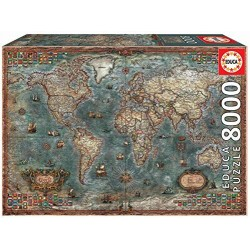 Educa Puzzle_  Mapamundi Histórico 8000 piezas