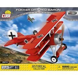 "Cobi_ Fokker DR.1 ""Barón Rojo"" (175 piezas-1 figura)"