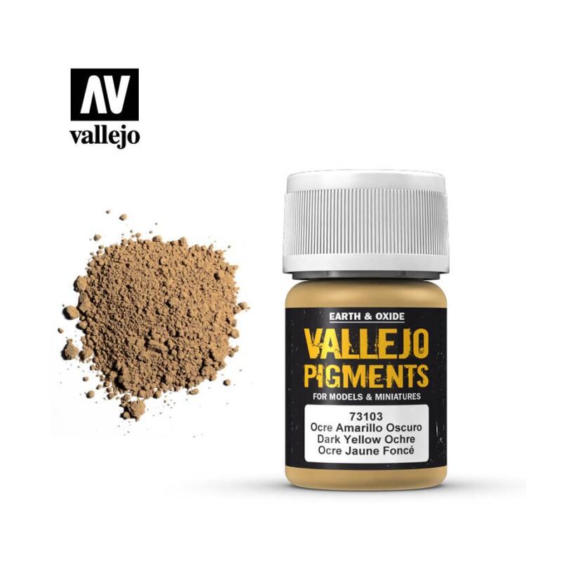 Vallejo_Pigmento Ocre Amarillo Oscuro 30 ml.