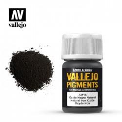 Vallejo_ Pigmento 30ml Óxido Negro Natural 30 ml.