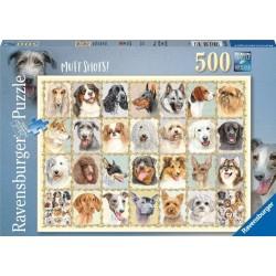 Ravensburger_ Retratos de perros. Puzzles 500 piezas.