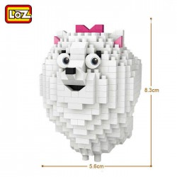 Loz Iblock fun_ Mascotas pomerania Gidget (600 piezas)