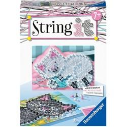 String it. Crea imagenes con Hilos. Gatitos.