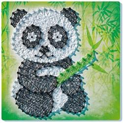 String it. Crea imagenes con Hilos. Panda y Zorro