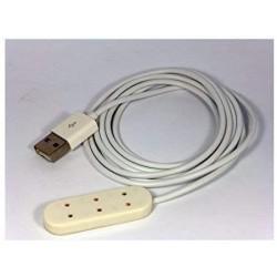 creal 22930. Regleta de tres enchufes con conexion USB,  3 voltios_ 1/12