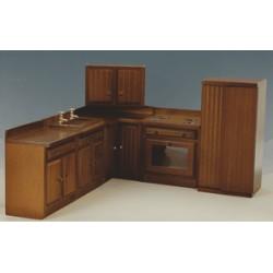 Creal 27353. Cocina madera color Nogal x 8 piezas 1/12