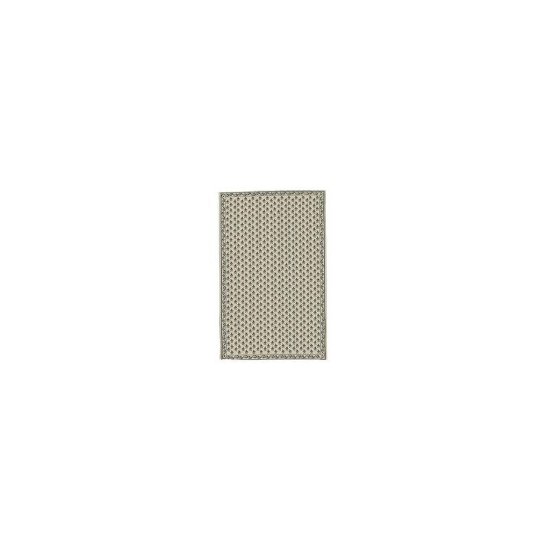 Creal 84280. Alfombra rectangular hueso y azul 30 x 20 cm. 1/12