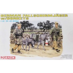 Dragon_ German Fallschirmjager w/ Donkeys_ 1/35