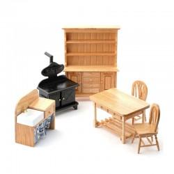 dollhouse 5966_ Cocina tradicional 6 piezas 1/12
