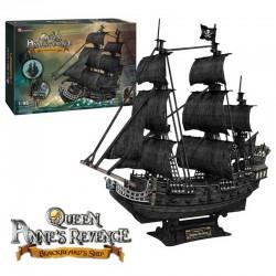 Queen Anne's Revenge. Blackbeard Ship, puzzle 3D