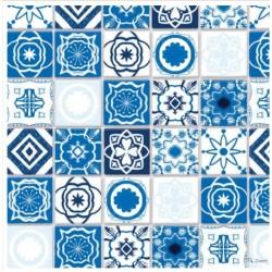 Streets ahead diy788A_  Azulejo de losetas mediterraneas azules 1/12