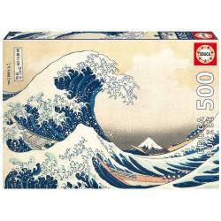 Educa_ La Gran Ola de Kanagawa_ Puzzles 500pcs.