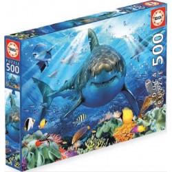 Educa 18478_ Gran Tiburón Blanco. Puzzle 500 piezas