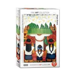 Eurographics 0798_ fiesta de la Flor. Fiesta de Santa Anita ( Diego Rivera ) ). Puzzle 1000 piezas