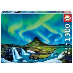 Educa_  Aurora Boreal Islandia. Puzzle 1500 piezas