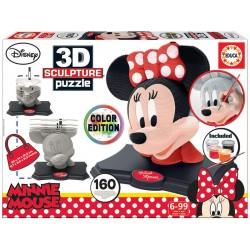 Educa 17930_ Disney 3D Sculpture. Minnie Mouse Color Edition