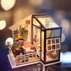 Robotime dg109_ Diy-Miniature-Balcony Daydreaming 1/24