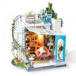 Robotime dg12. Diy Miniature House_ Loft de Dora 1/24
