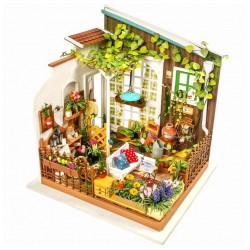 Robotime dg108_ Diy Miniature House_ El Invernadero de Miller