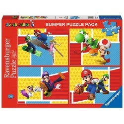 Ravensburger 05195_  Super Mario 4 x 100 piezas.