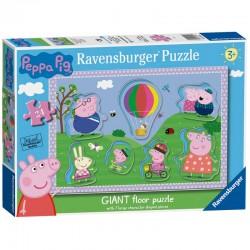 Ravensburger 03026_ Diversión al Sol.  Peppa Pig. Puzzles gigante para suelo 24 piezas.