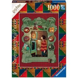 Ravensburger 16516_ Harry Potter en casa de la familia de Weasley_ Puzzle 1000pcs.