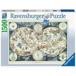 Ravensburger 16003_ Mapa Mundial de Bestias Fantasticas_ Puzzle 1500 Pzas