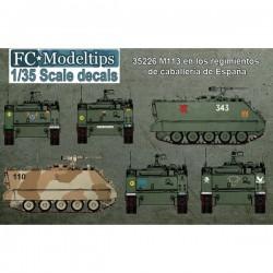 Calcas M-113 TOA en los Regimientos de Caballería en España