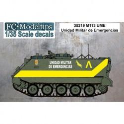 Calcas M-113 UME Unidad Militar de Emergencias