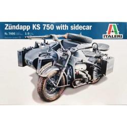 Italeri_ Zundapp KS 750 with Sidecar_ 1/9