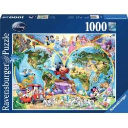 Ravensburger_ Mapamundi de Disney.  Puzzle 1000 piezas