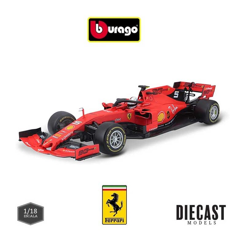 Burago_ Ferrari F1 SF90 S. Vettel Australian GP (2019)_ 1/18