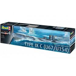 Revell_ U-Boot Type IX C (U67/U154) German Submarine_ 1/72 caja