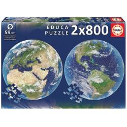 Educa_ Planeta Tierra. Puzzle 2 x 800 piezas