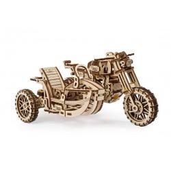 UGEARS_  Motocicleta de motocross UGR-10 Con sidecar
