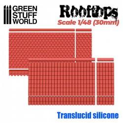 Moldes de Silicona. Tejados 1/48 (30mm)