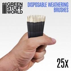 Pinceles Weathering Desechables (x25uds.)