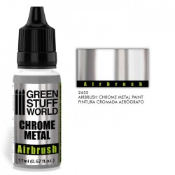 Green Stuff_ Pintura Efecto Cromado para Aerógrafo