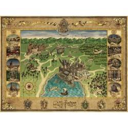 Ravensburger_ Harry Potter. Mapa de Hogwarts. 1500 Pzas