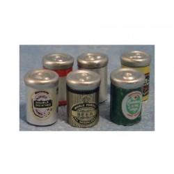 dh_ Latas de cerveza X6