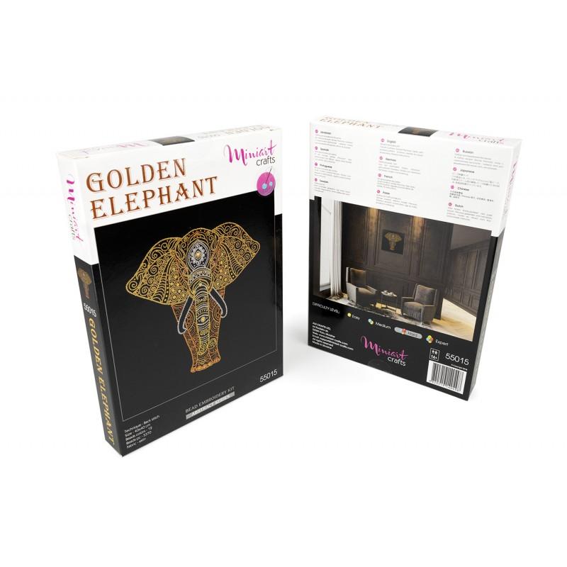 Golden Elefant (manualidad de costura)