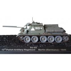 Die cast_ Su-85 13 Polish Artillery Regiment Berlin (Germany)-1945