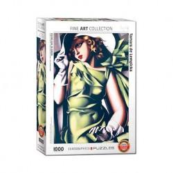 Eurographics_ Chica Joven en Verde (Tamara Lempicka). Puzzle 1000 piezas