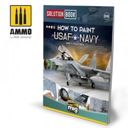 How to paint USAF Navy Grey Fighters. Solution Book