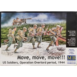 Move, move, move!!! US soldiers, Operation Overlord perod, 1944_ 1/35