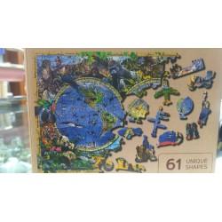 Puzzle de madera. Mapa del...